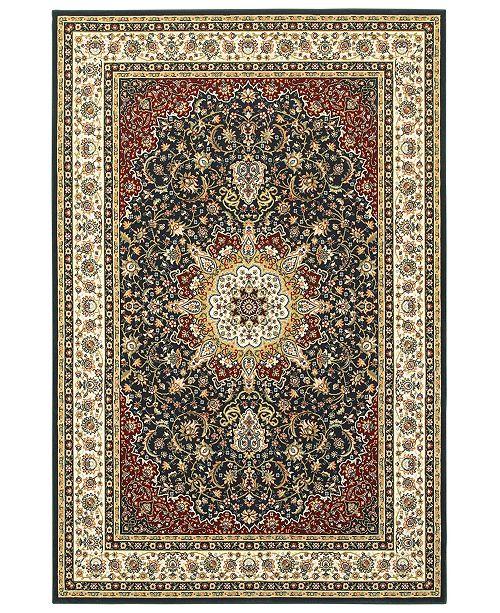 """Oriental Weavers Kashan 119U Navy/Ivory 5'3"""" x 7'6"""" Area Rug"""