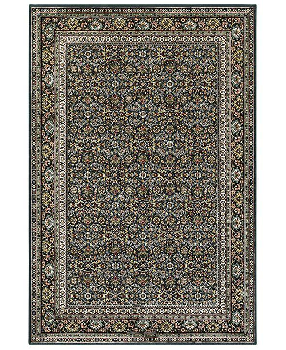 """Oriental Weavers Kashan 180L Navy/Multi 6'7"""" x 9'6"""" Area Rug"""
