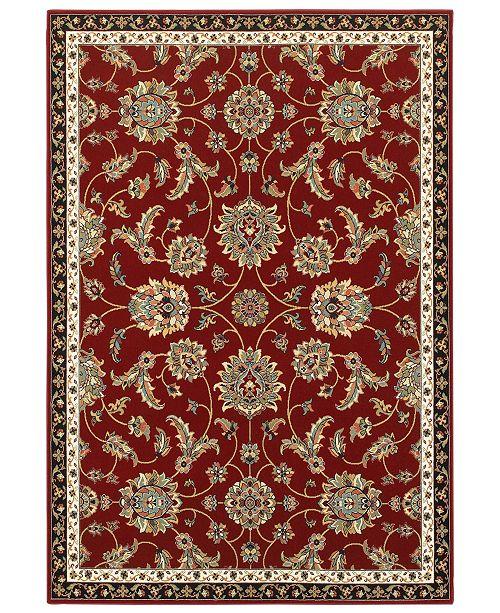 """Oriental Weavers Kashan 370R Red/Multi 1'10"""" x 3' Area Rug"""