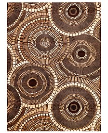 "Liora Manne' Marina 8035 Circles 7'10"" x 9'10"" Indoor/Outdoor Area Rug"