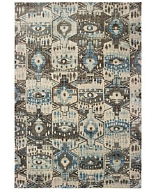 "Pandora 1334W Blue/Brown 3'10"" x 5'5"" Area Rug"