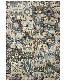 "Oriental Weavers Pandora 1334W Blue/Brown 5'3"" x 7'6"" Area Rug"