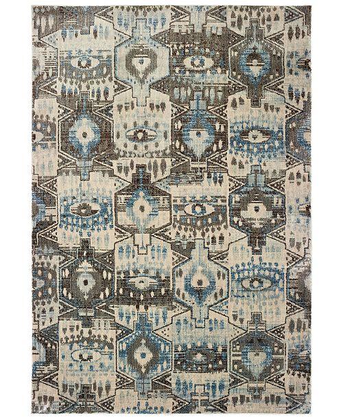 """Oriental Weavers Pandora 1334W Blue/Brown 2'3"""" x 7'6"""" Runner Area Rug"""