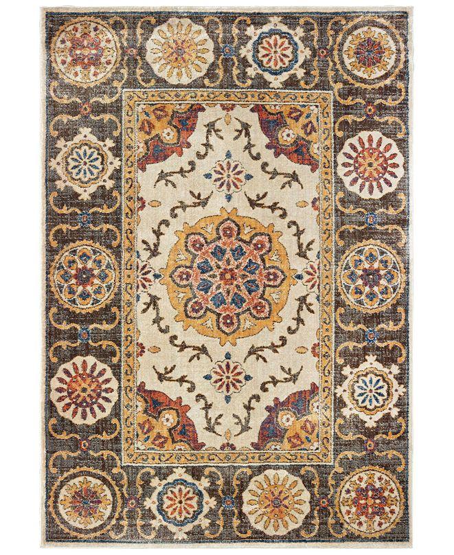 "Oriental Weavers Pandora 4929X Ivory/Brown 9'10"" x 12'10"" Area Rug"
