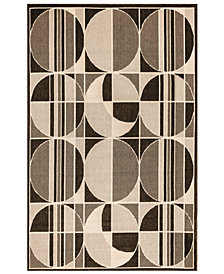 "Liora Manne' Riviera 7636 Circles 1'11"" x 7'6"" Indoor/Outdoor Runner Area Rug"
