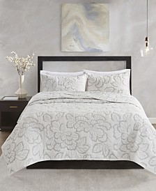 N Natori Kira Full/Queen 3 Piece Cotton Coverlet Set