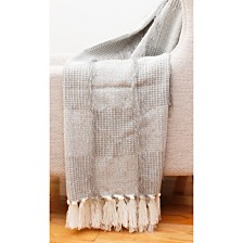 "Henleigh Crazy Tassel Decorative Knit Throw, 50"" x 60"""