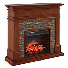 Tennille Faux Stone Fireplace