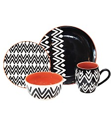Baum Wavy 16 Piece Dinnerware Set
