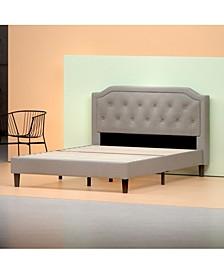 Kellen Platform Bed Frame / Strong Wood Slat Support, King