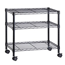 3-Shelf TV Stand and Portable Multimedia Cart