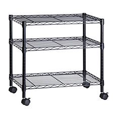 Honey Can Do 3-Shelf TV Stand and Portable Multimedia Cart