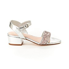 Toddler, Little & Big Girls Hillary Metallic Sandal with Glitter
