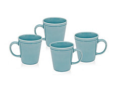 Godinger Culinara  Set/4 Blue Mugs