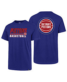 '47 Brand Men's Detroit Pistons Fade Back Super Rival T-Shirt