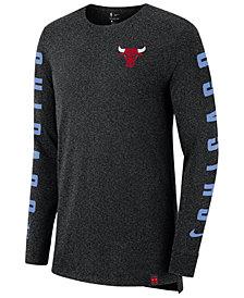 Nike Men's Chicago Bulls City Elevated Long Sleeve Dry T-Shirt