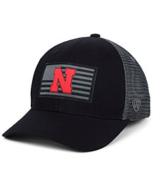 Top of the World Nebraska Cornhuskers Back the School Flag Trucker Cap