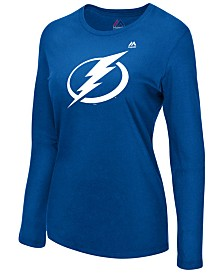 Majestic Women's Tampa Bay Lightning Primary Logo Long Sleeve T-Shirt