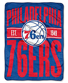 Northwest Company Philadelphia 76ers Micro Raschel Clear Out Throw Blanket