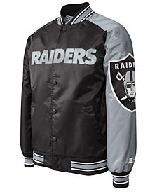 G-III Sports Men's Oakland Raiders Starter Dugout Playoff Satin Jacket