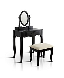 Jayna Vanity Table and Stool Set