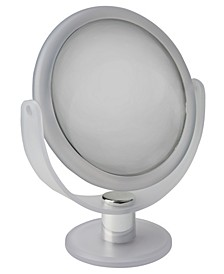 "Dual Sided 10X Magnification 7"" Rubberized Vanity Mirror"