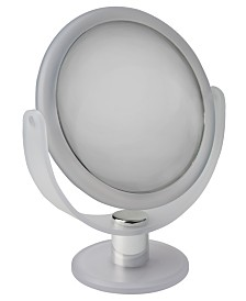 "Home Details Dual Sided 10X Magnification 7"" Rubberized Vanity Mirror"