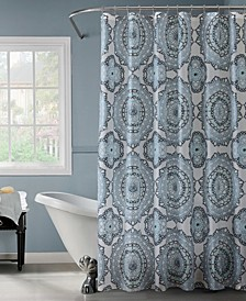Mandula Design Shower Curtain in Blue & Green