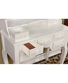 Tamarah Vanity Table with Stool