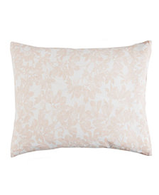 Caskata Cotton Canvas Lumbar Pillow With Feather and Down Insert