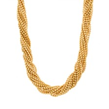 Steve Madden Beaded Interlock Necklace