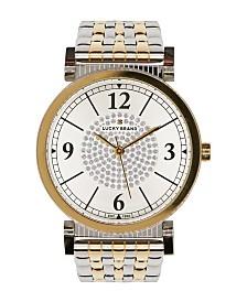 Lucky Brand Women's Carmel White Glitz Bracelet Watch 34mm
