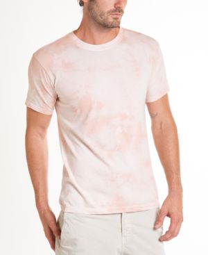 ORIGINAL PAPERBACKS South Sea Crystal Wash Tie Dye Crewneck Tee in Blush