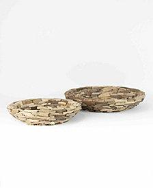Kalalou Large Driftwood Bowls, Set of 2