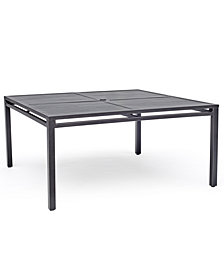 "Aluminum 62"" Square Outdoor Dining Table (Montclaire & Genevieve), Created for Macy's"