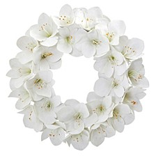 "24"" Amaryllis Artificial Wreath"