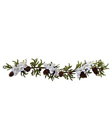 """60"""" Phalaenopsis Orchid and Pine Garland"""