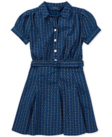 Polo Ralph Lauren Toddler Girls Printed Cotton Poplin Dress
