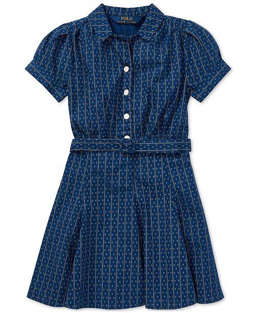 4bdeea3d12e ... Polo Ralph Lauren Toddler Girls Printed Cotton Poplin Dress ...
