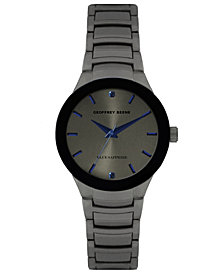 Geoffrey Beene Genuine Blue Sapphire Dial Bracelet Watch