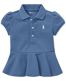 Polo Ralph Lauren Baby Girls Peplum-Hem Cotton Polo