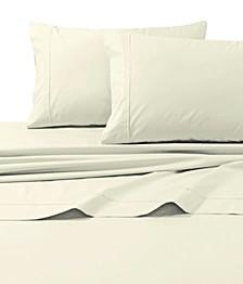 300 Thread Count Cotton Percale Extra Deep Pocket Cal King Sheet Set