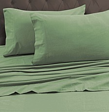 170-GSM Heavyweight Solid Flannel Cal King Fitted Sheet