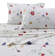 Tribeca Living Flannel Floral Garden 170-GSM Cotton Extra Deep Pocket Printed King Sheet Set