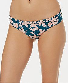 O'Neill Bleached-Floral Hipster Bikini Bottoms