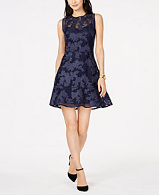 MICHAEL Michael Kors Mesh Appliqué Dress