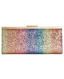 I.N.C. Carolyn Cake Glitter Clutch, Created for Macy's