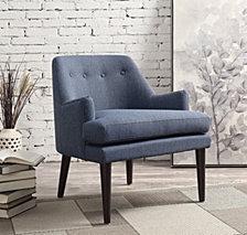 Dean Mid Century Accent Arm Chair, Quick Ship