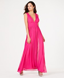 Speechless Juniors' Deep-V Chiffon Gown, Created for Macy's