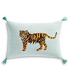"Whim by Martha Stewart Collection Tiger 14"" x 20"" Decorative Pillow, Created for Macy's"